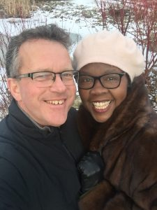 Image of Joy Foster and her partner, Shaun Foster.